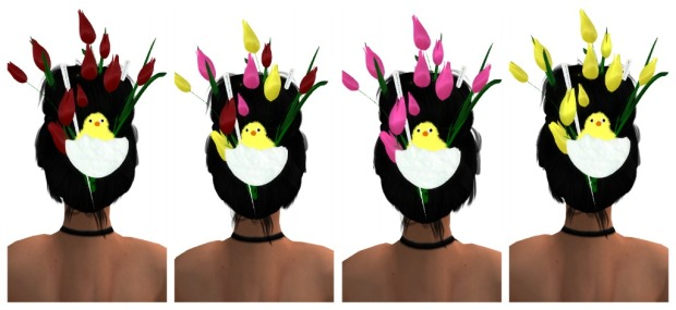Easter Headpiece Collage