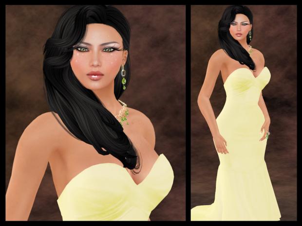 Mischa Dress Collage Lemon